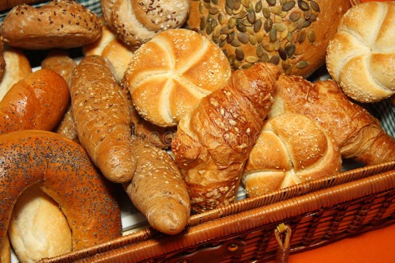 olika sorter för bröd arkivfoto