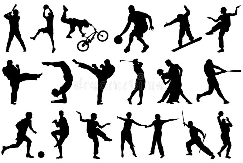 Olika sportar royaltyfri illustrationer