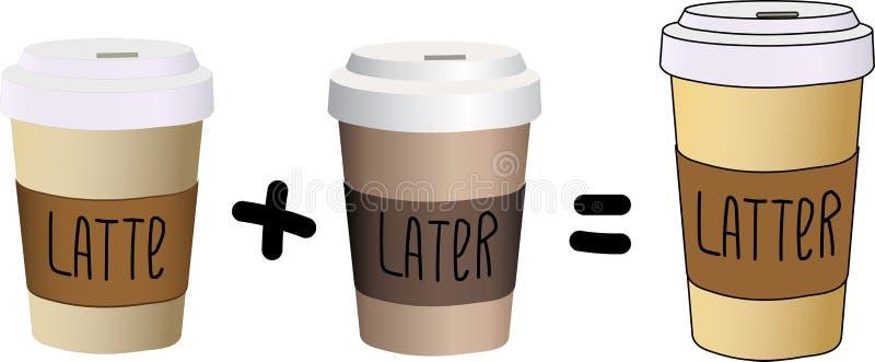 Olika typer av exponeringsglas för kaffe` s Vektoruppsättningen av disponibelt rånar royaltyfri illustrationer