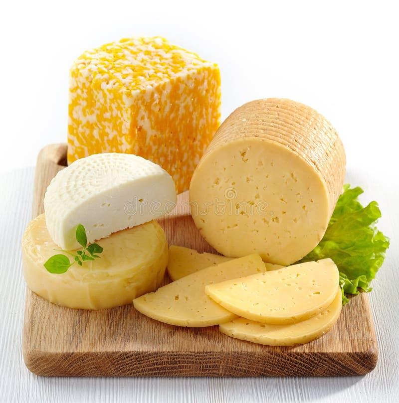 Olika typer av ost royaltyfri bild