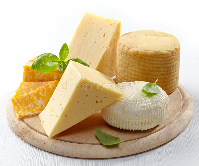 Olika typer av ost royaltyfri foto