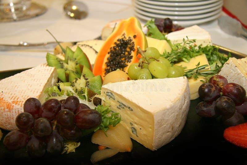 olika uppläggningsfattyper för ost royaltyfri foto