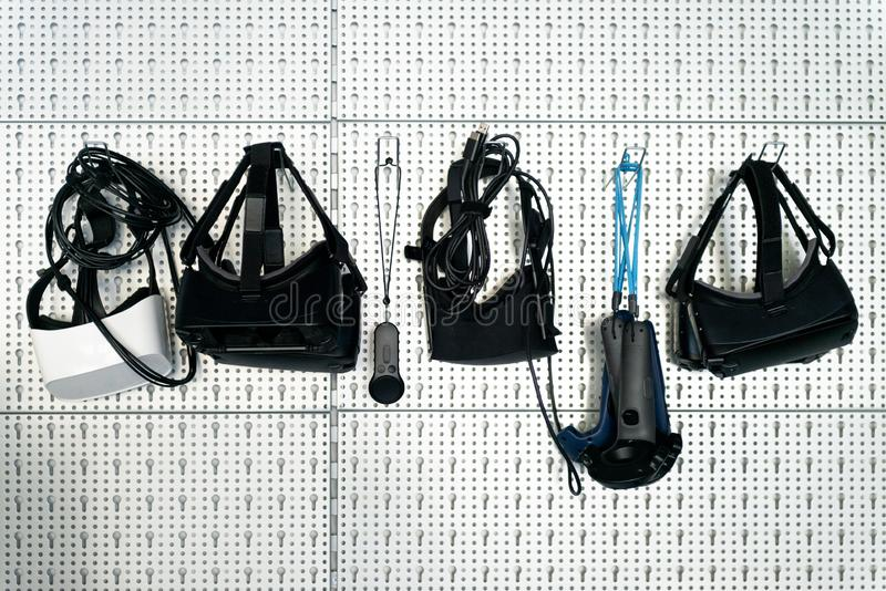 Olika VR-apparater arkivbilder