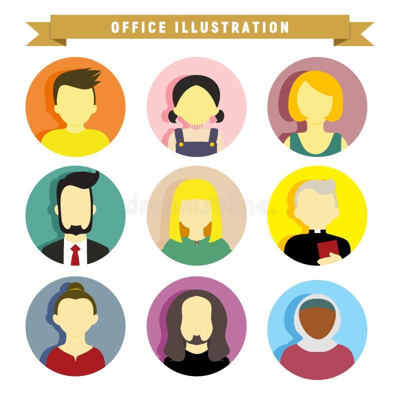 Olikt diagram för illustration för folkillustrationvektor royaltyfri illustrationer
