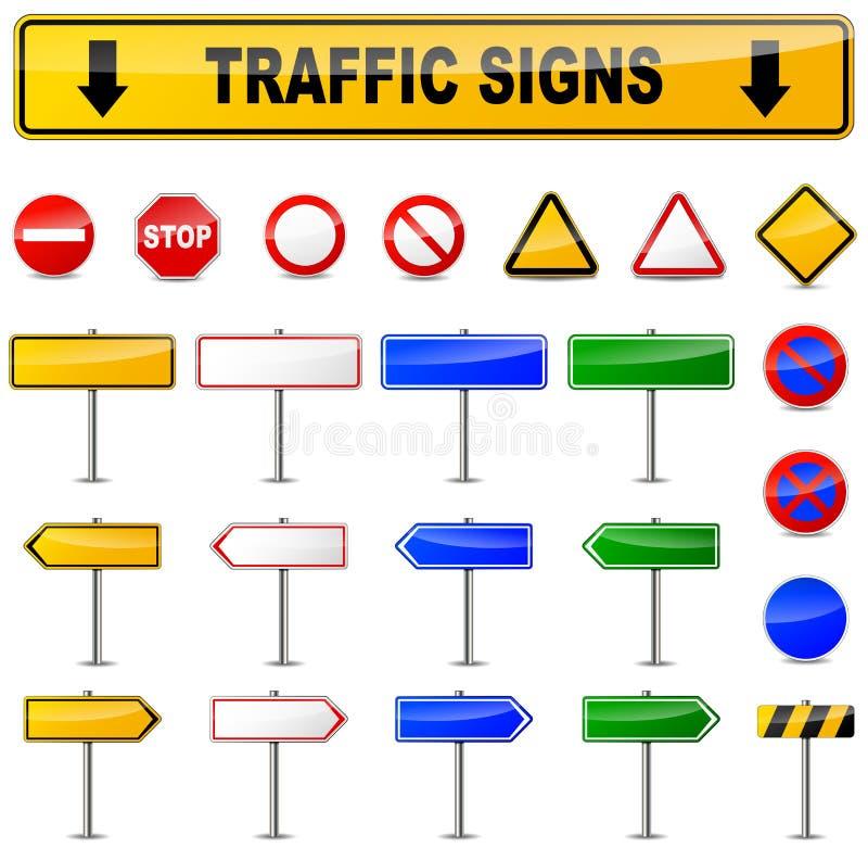 Olikt trafiktecken royaltyfri illustrationer