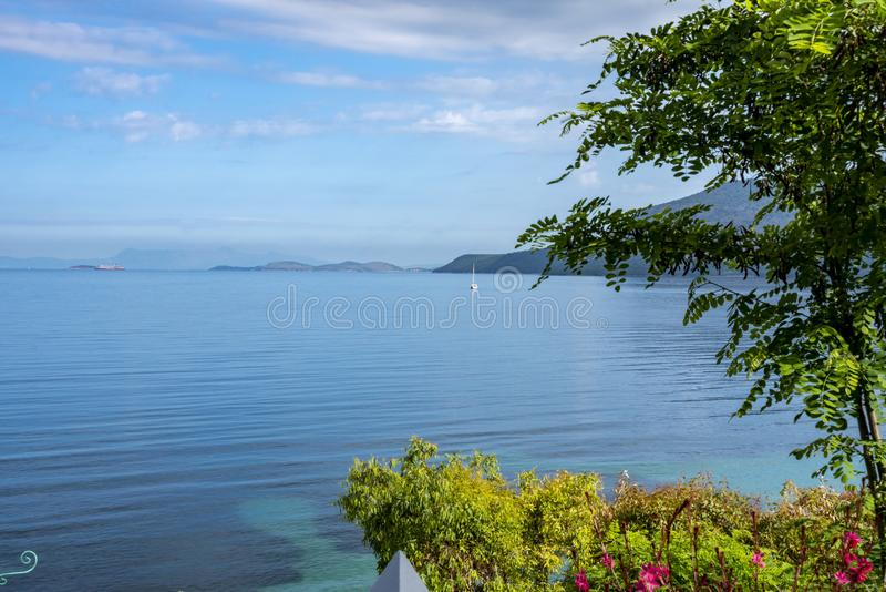 Olimpia Beach on Kefalonia Island Greece royalty free stock images