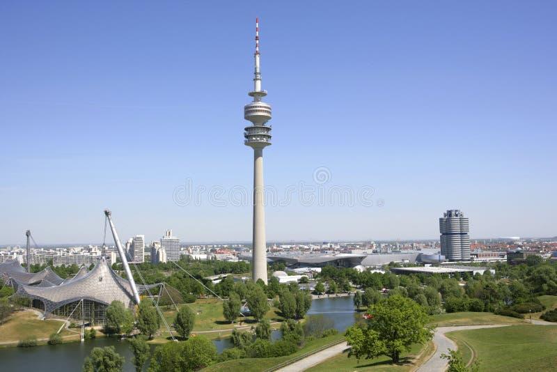 Olimpia park w Monachium, Bavaria zdjęcie royalty free