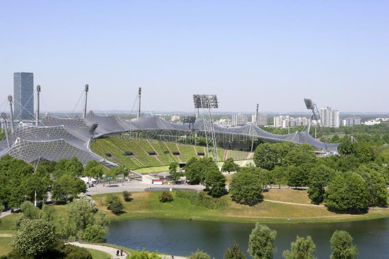 Olimpia park w Monachium, Bavaria zdjęcia royalty free