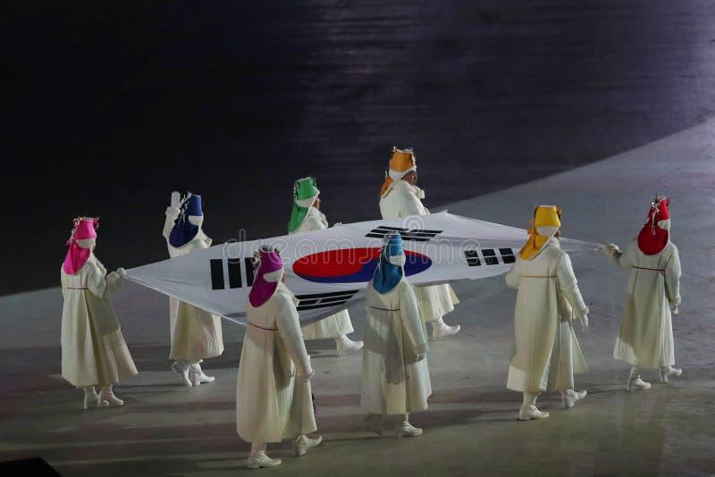 2018 olimpiad zimowych ceremonia otwarcia zdjęcia royalty free