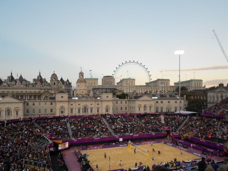 Olimpiadas 2012 de Londres del voleibol de playa fotografía de archivo