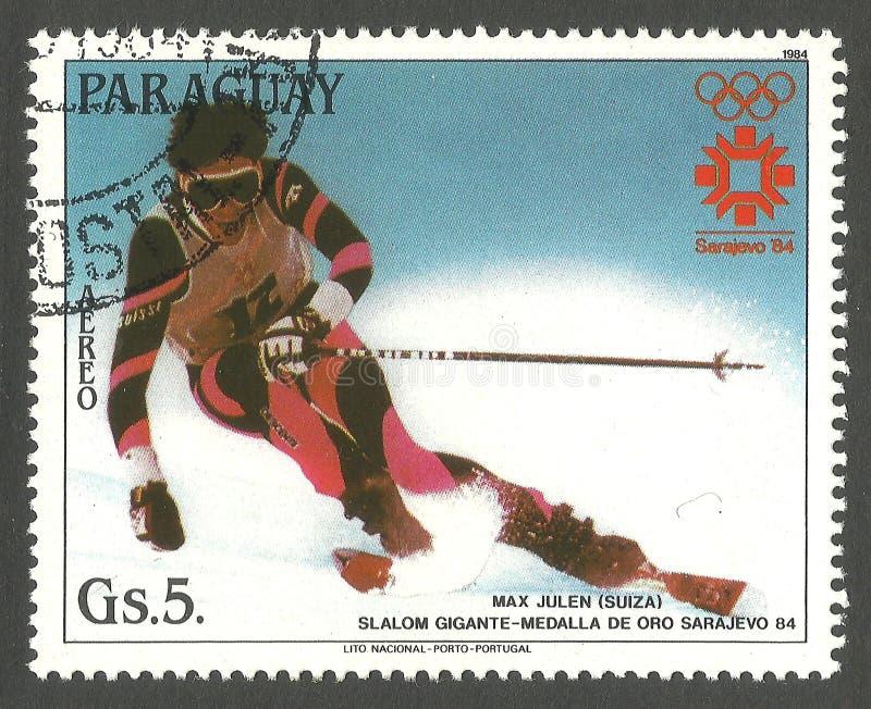 Olimpiadas en Sarajevo, Max Julen foto de archivo libre de regalías