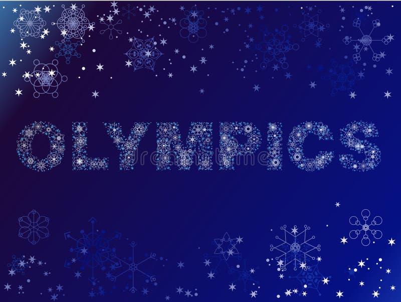 Olimpiadas hechas de nieve ilustración del vector
