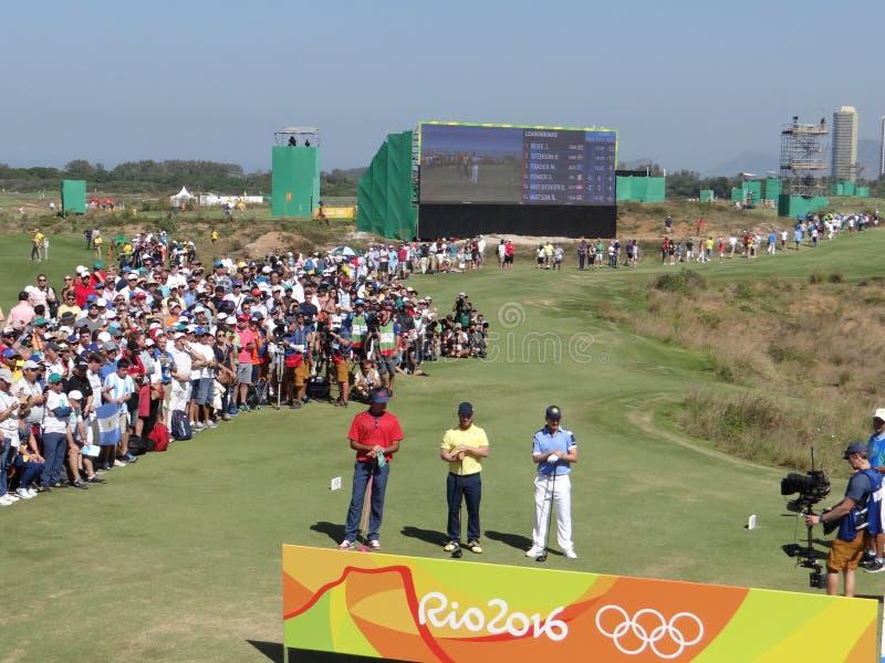 Olimpiadas Río 2016 - golf imagenes de archivo