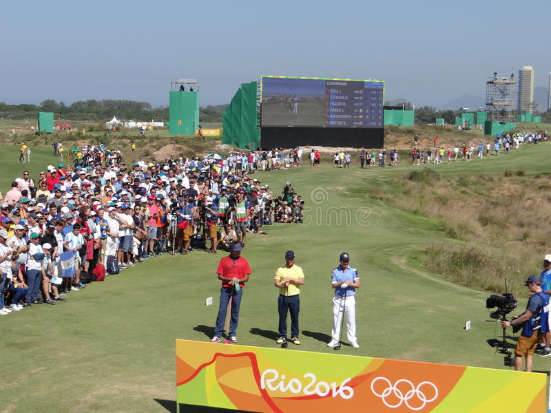 Olimpiady Rio 2016 - golf obrazy stock