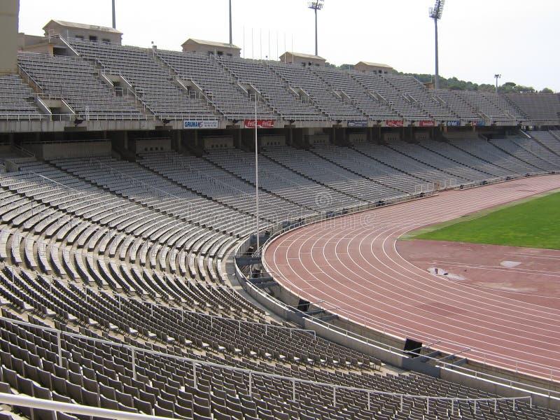 Olimpic stadionLluÃs företag av Barcelona royaltyfri foto