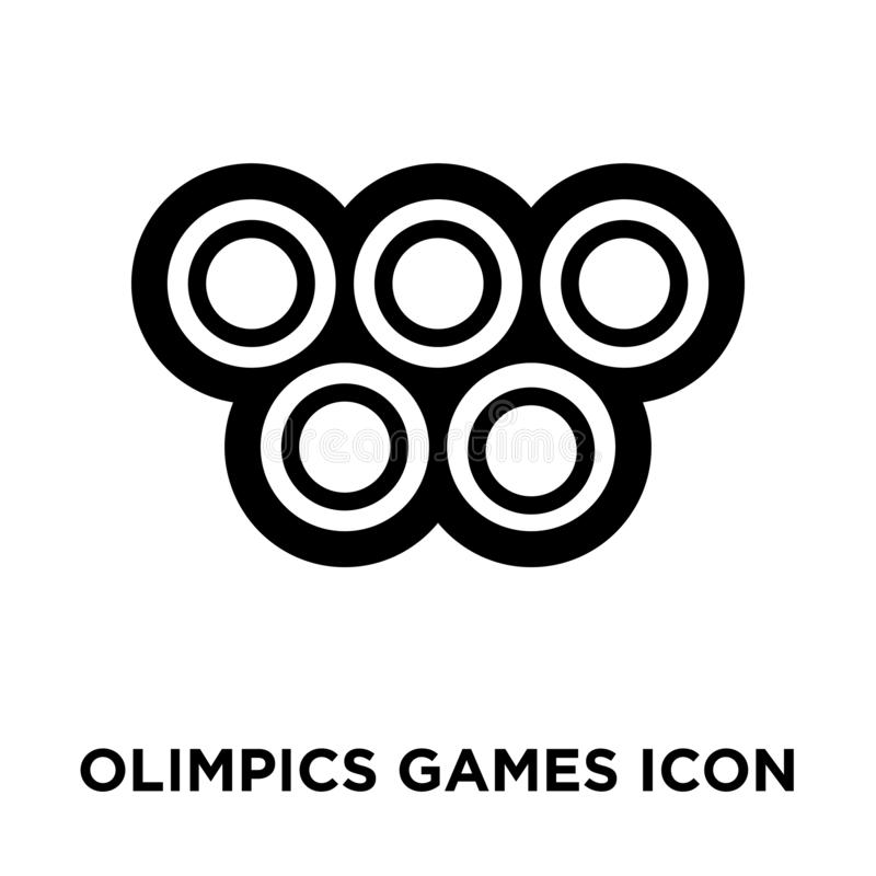 Olimpics games icon vector isolated on white background, logo co royalty free illustration