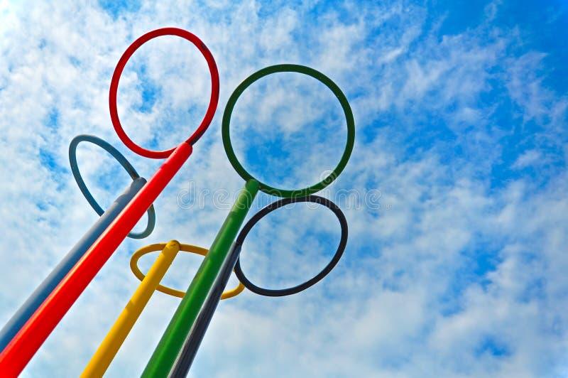 olimpijscy pierścionki obrazy royalty free