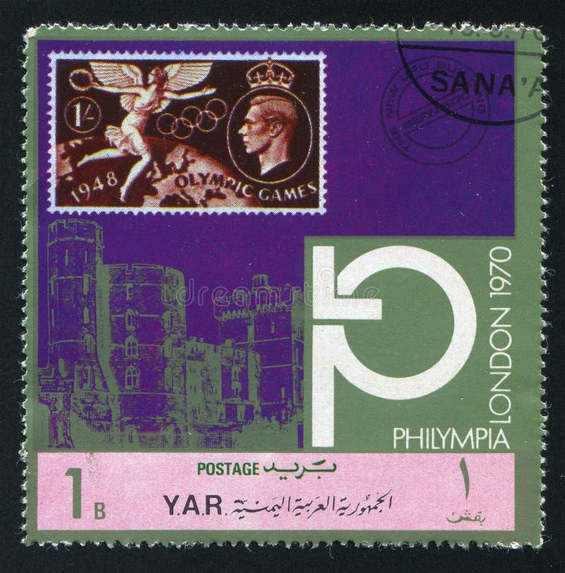 Olimpijscy symbole i opactwo abbey zdjęcia stock