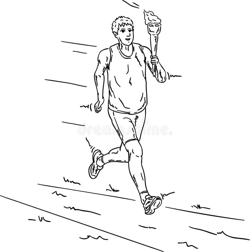 Olimpijska pochodnia ilustracji