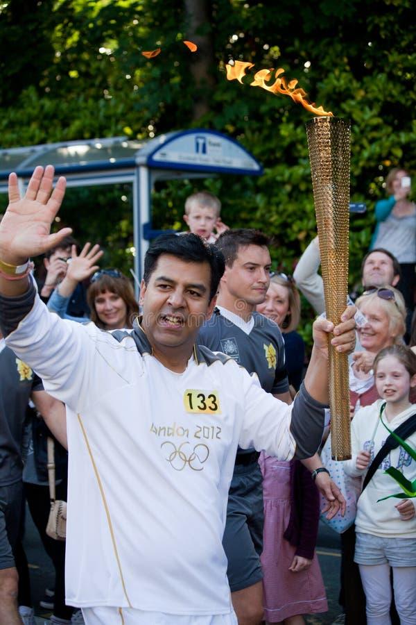 Olimpijska Pochodnia Londyn 2012 zdjęcie royalty free
