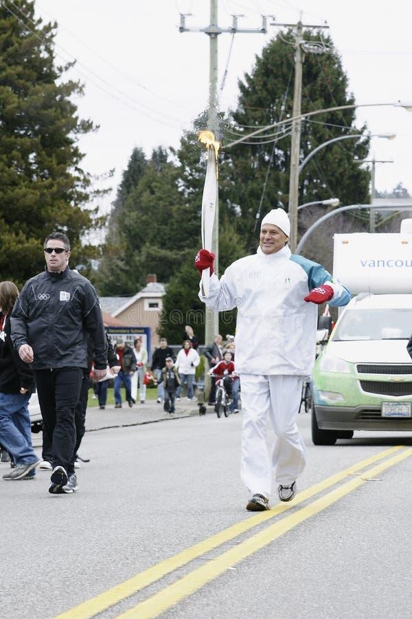 olimpijska pochodnia Vancouver obrazy stock