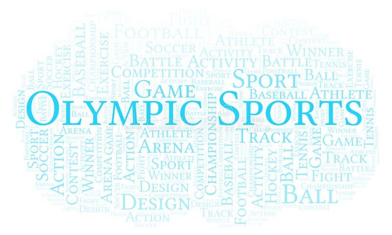 Olimpijska sporta słowa chmura royalty ilustracja