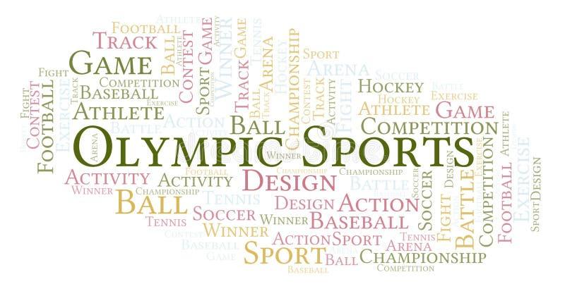 Olimpijska sporta słowa chmura ilustracji