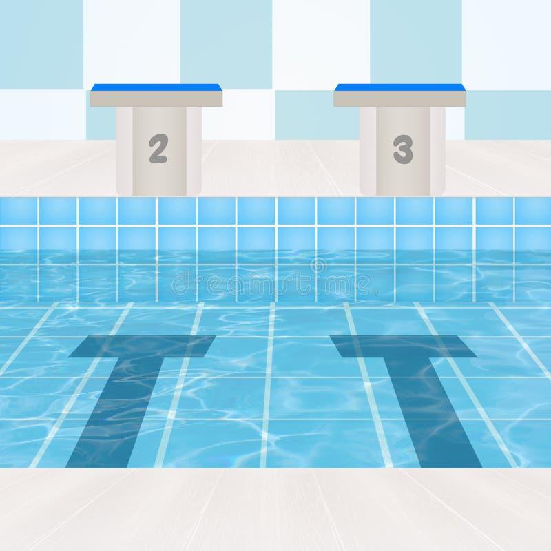 Olimpijski basen royalty ilustracja