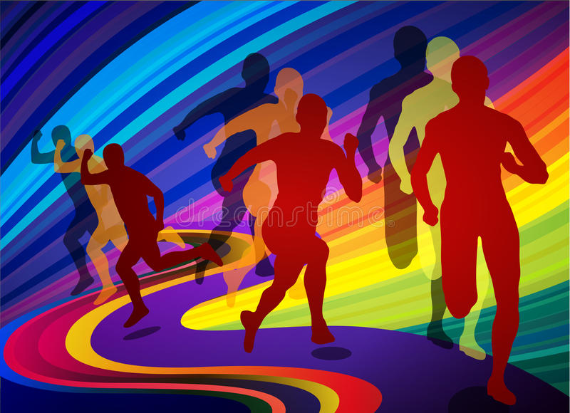 olimpijski gra bieg royalty ilustracja