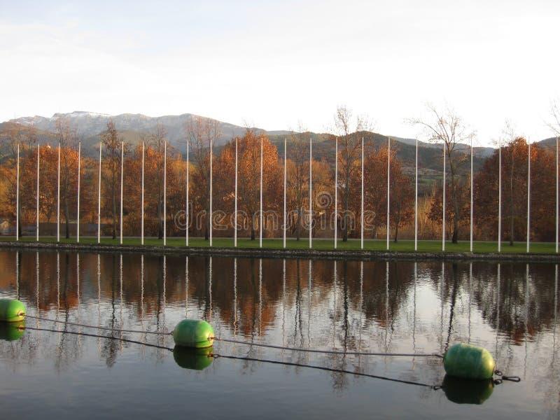 Olimpijski kanał dla wioślarstwa zdjęcie stock