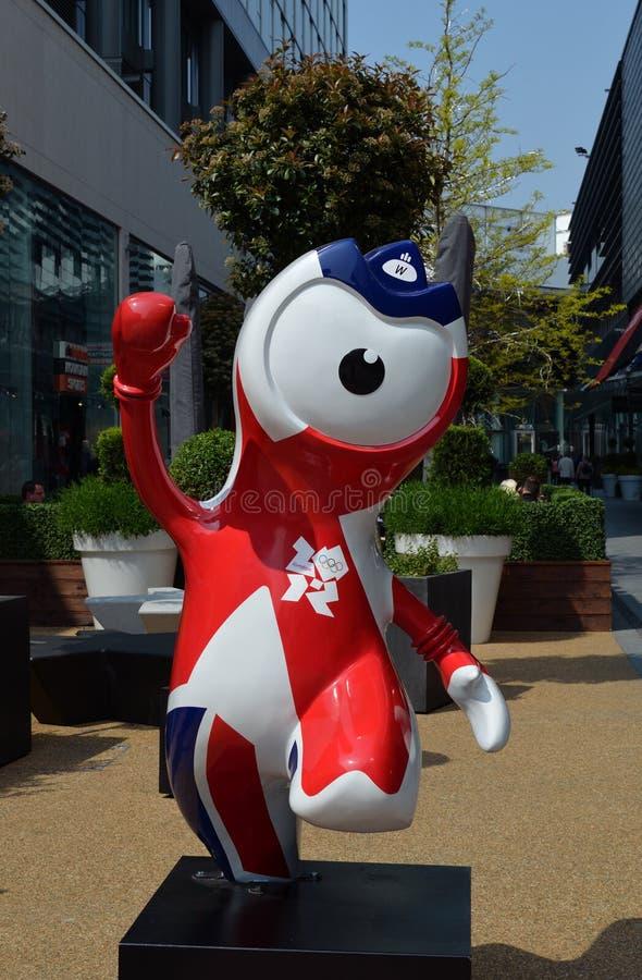 olimpijski maskotki wenlock zdjęcia royalty free