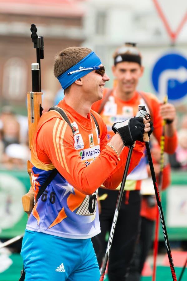 Olimpijski mistrz Evgeny Ustyugov fotografia royalty free