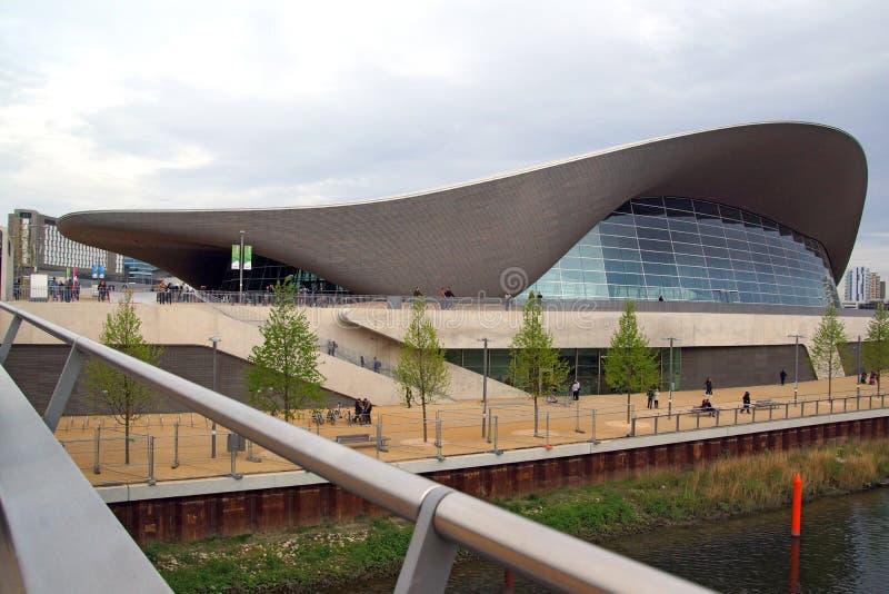 Olimpijski Pływacki basen fotografia stock