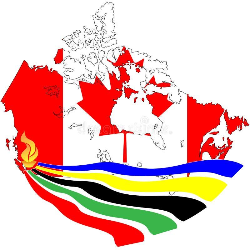 olimpijski pochodni Vancouver wektor ilustracja wektor