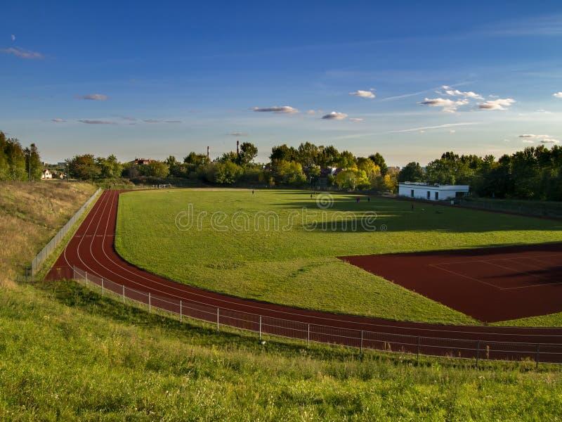 Olimpijski sporta miejsce gdy pogodny lata popołudnia czas obraz stock