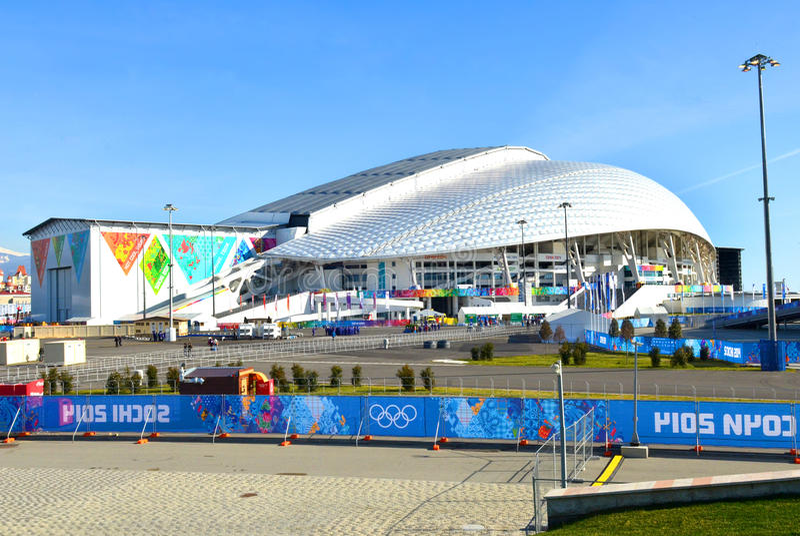 Olimpijski stadium Fisht w Sochi, Rosja obraz stock