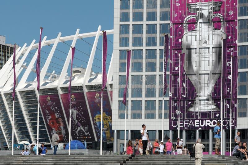 Olimpijski stadium (NSC Olimpiysky) zdjęcie stock
