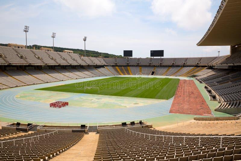 Olimpijski stadium w Barcelona fotografia stock