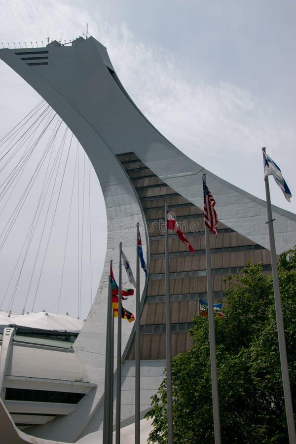 Olimpijski stadium wierza w Montreal obraz royalty free