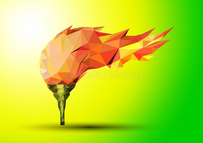 Olimpijskiego płomienia ogień ilustracja wektor