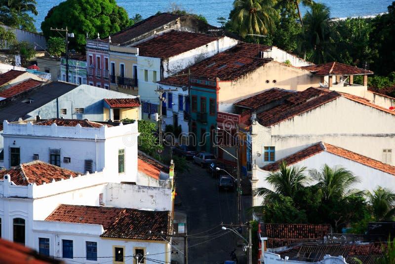 Olinda cityscapepernambuco Brasilien royaltyfria bilder