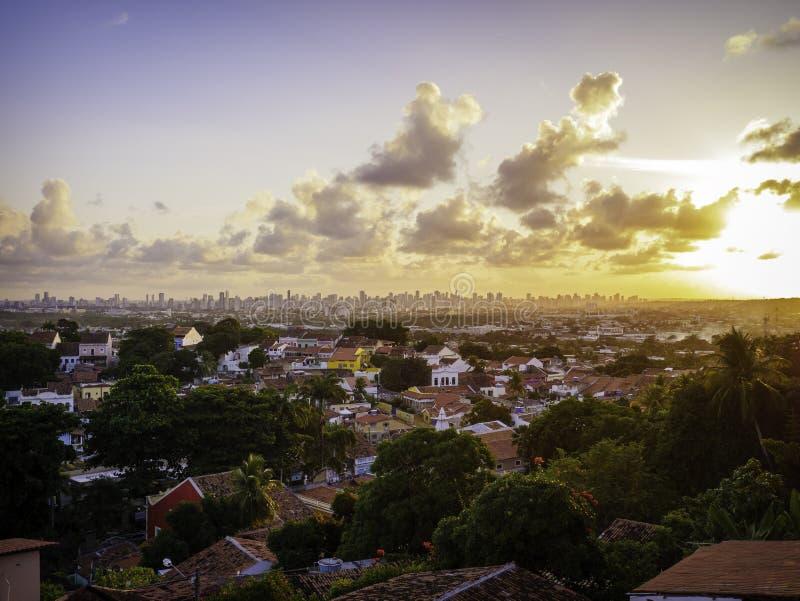 Olinda en Recife in PE, Brazilië stock foto
