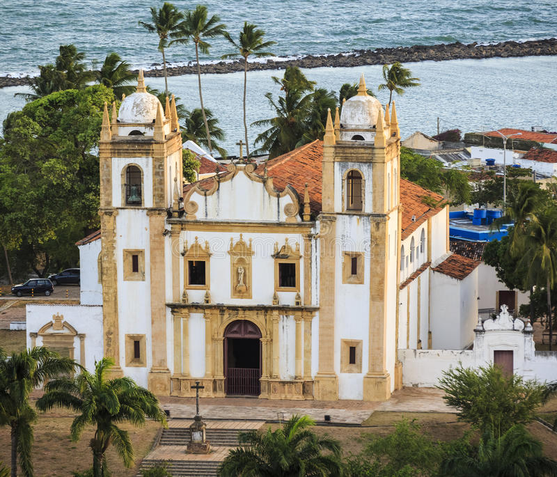 Olinda. The historic buildings of Olinda in PE, Brazil dated from the 17th century stock photo