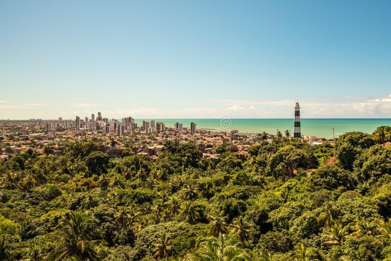 Olinda Lighthouse, Olinda, Pernambuco, Brazil. Aerial view of Olinda Lighthouse, Olinda, Pernambuco, Brazil stock image