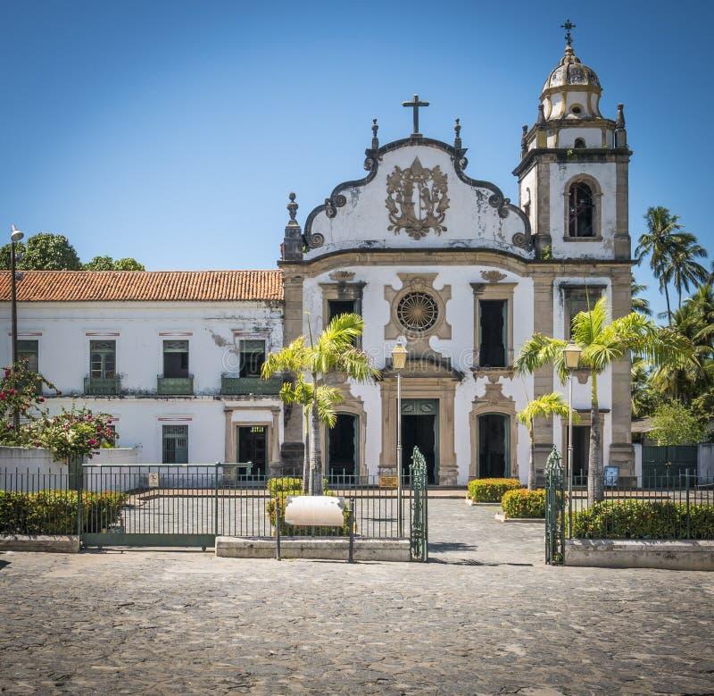 Olinda in PE, Brazil. The colonial buildings of Olinda in the state of Pernambuco, Brazil royalty free stock image