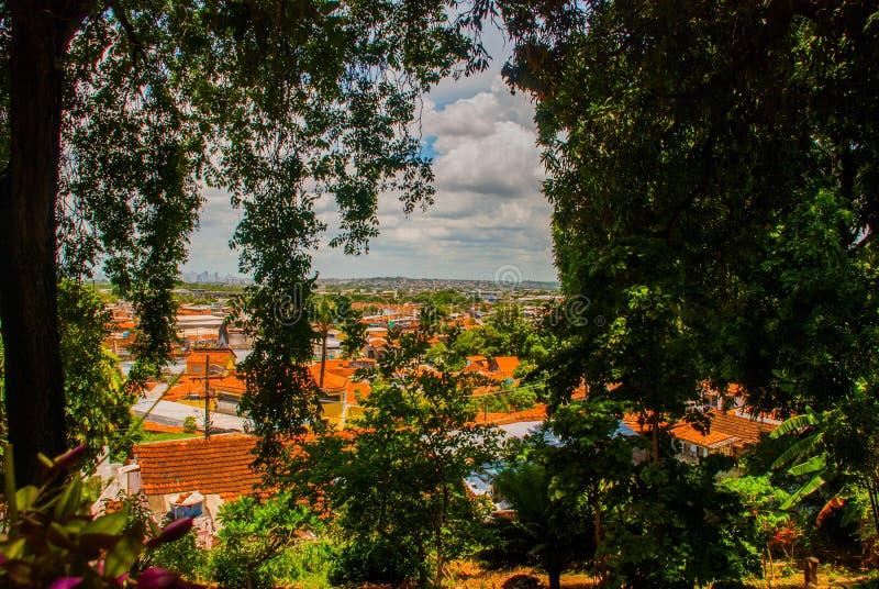 Olinda, Pernambuco, Brazil: Colorful colonial houses at Olinda on Brazil. Olinda, Pernambuco, Brazil, South America: Colorful colonial houses at Olinda on Brazil royalty free stock photos