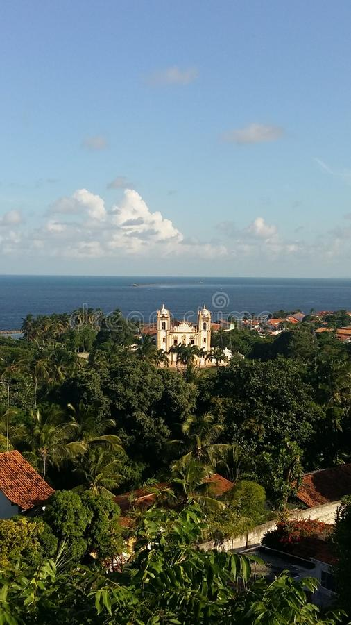 Olinda, Pernambuco, vue de Se de Catedral DA images stock