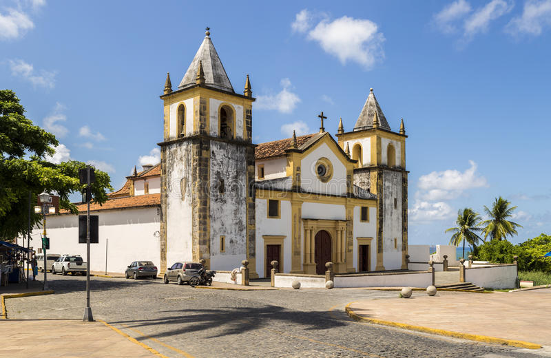 Olinda. View of the city of Olinda in Pernambuco, Brazil showcasing the architecture of Se Church dated from the 14th century royalty free stock photos