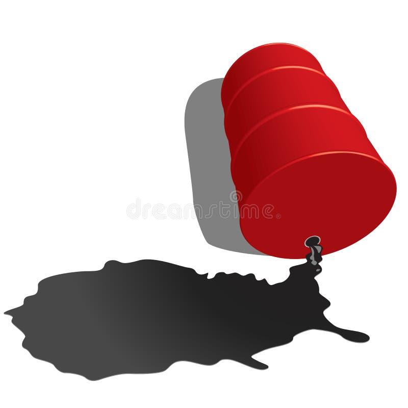 Olio classico del barilotto illustrazione di stock