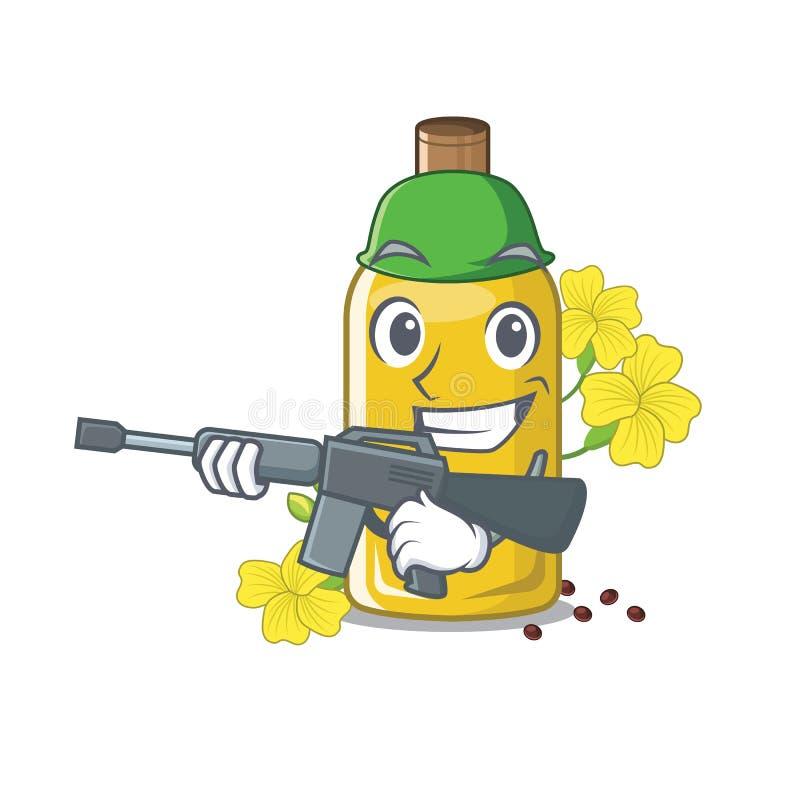 Olio del canola dell'esercito isolato con il fumetto royalty illustrazione gratis